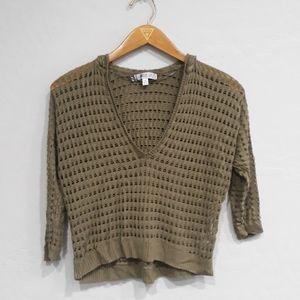 Jennifer Lopez Hooded Crocheted Sweater Top